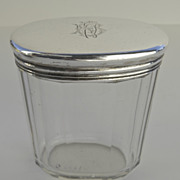 Crystal and Sterling Silver Dressing Case Bottle Retailed Asprey London.