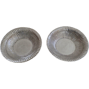 Vintage Pair of Sterling Silver Serving Footed Bowls Casa Prieto Mexico 925