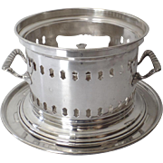 Vintage Silver Plated Italian Italy Chafing Dish Burner Warmer