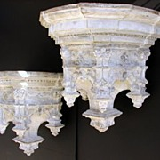Two Gothic Terra Cotta Wall Brackets
