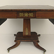 English Regency Rosewood Brass Inlaid Sofa Table