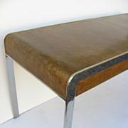 Mid Century Chrome and Bird's Eye Maple Desk