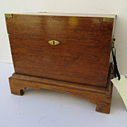 Case Bottle Carrying Box fitted with Original Gilt Decorated Bottles
