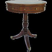 English Mahogany Rare Small Sized Drum Table c 1790
