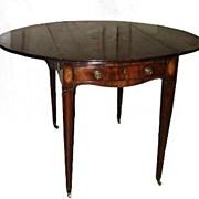 English Mahogany Inlaid Pembroke Table c 1800