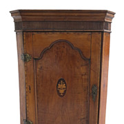 English Fruit Wood Hanging Corner Cupboard