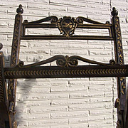Continental Baroque Walnut Gilt Liturgical Stand