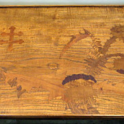Wonderful Inlaid Tray by Galle Custom Stand Table