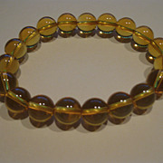 SOLD Honey-colored Crystal Bead Expandable Bracelet