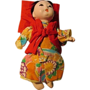 SALE Vintage Japanese Gofun Ichimatsu Little Baby Doll