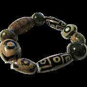 SOLD Rare Ethnic Tribal Tibetan Dzi Bead Bracelet