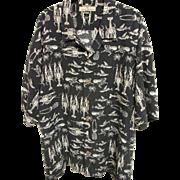SOLD Tommy Bahama 100% Silk Crustacean Aloha Shirt, Size XXL