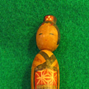 SALE Vintage Japanese Kokeshi Wooden Clothespin Doll