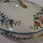 "SALE Vintage Hand Painted Floral Pattern ""Nippon"" Porcelain Tureen"