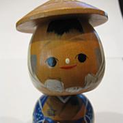 Vintage Japanese Boy Kokeshi Doll