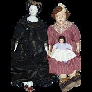 SOLD Estate Sale, 3 Shoulder Head Dolls