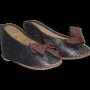 SALE Rare #15 Jumeau Bebe Shoes, Large and Early