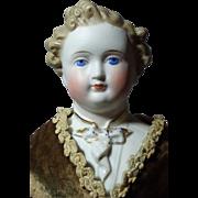 """SOLD 17"""" Fabulous Antique Parian Boy ca 1870-80"""