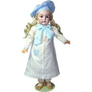"White Dress with Beret, fits 17"" Kestner"