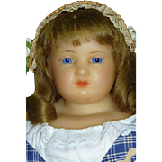 """SALE Delightful 19"""" Slightly Turned Head Wax Young Lady"""