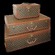 SOLD French Dreams!!Louis Vuitton Luggage Original Authentic Antique, Matching 3 Piece Set w/