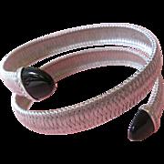 SALE 36.7 Grams;18K Gold Bracelet/Bangle With Diamonds; & Onyx Estate;18k diamond bracelet ...