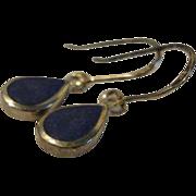 SOLD Flawless Lapis lazuli Silver Drop Earring.
