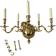 Virginia Metalcrafters Brass Raleigh Tavern Chandelier Williamsburg Colonial  Pair Available