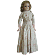 "REDUCED 16 "" Tall Wax Head Doll All Original Clothing"