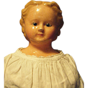 German Wax Over Composition Doll Early wooden Limbs