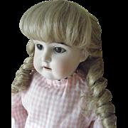 """Antique German Bisque Head Doll 25"""" Edmund Ulrich Steiner Germany"""