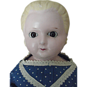 "25"" Tall Wax Over Compostion Doll Alice In Wonderland Hair Style"