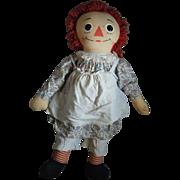 "Giant 40"" Vintage Raggedy Ann Doll Knickerbocker era"