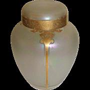 SALE Honesdale REGELETTO Ginger Jar glass vase Iridescent