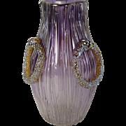 Loetz glass empire pensee verlaufend Texas mit silber.