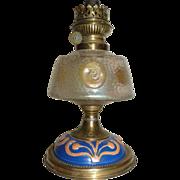 SALE Unusual Loetz Nautilus glass Oil lamp