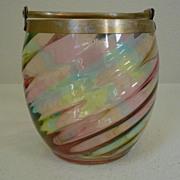 SALE Loetz Rainbow glass vase Jar