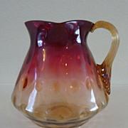 New England Amberina glass pitcher vase