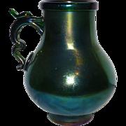 Gorgeous Webb Bronze Iridescent glass  vase pitcher jug