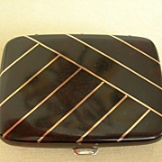 Victorian Tortoise Shell Card Case
