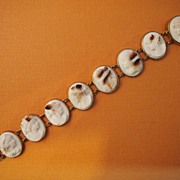 Victorian Shell Cameo Bracelet