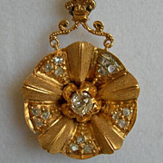 Victorian Gold Diamond Pendant
