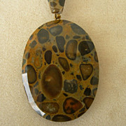 Victorian Leopard Spotted Pendant