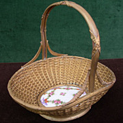 Victorian French Metal Wire Basket