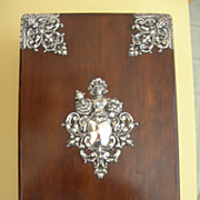 Victorian Silver and Wood Vanity Box