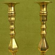 Victorian Brass Candlesticks