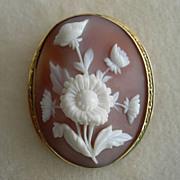 Victorian Floral Cameo Brooch/Pendant