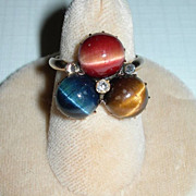 Edwardian Cat's Eye Tourmaline Ring