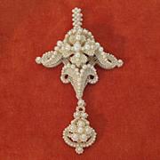 Late Georgian Seed Pearl Pendant
