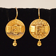 Victorian Gold Buckle Earrings